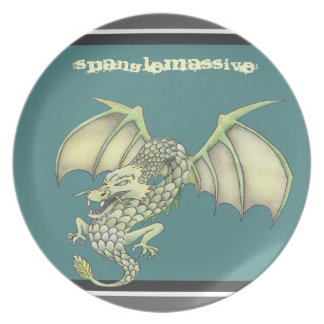 DRAGON cartoon plate