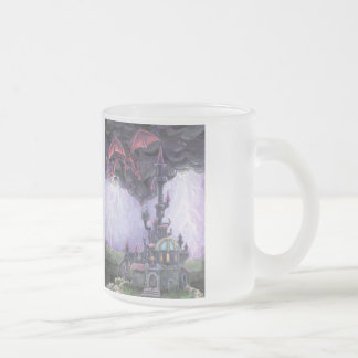 Dragon Castle Frosted Glass Mug