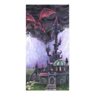 Dragon Castle Personalised Photo Card
