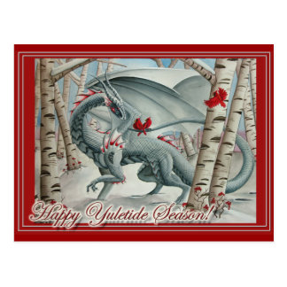 Dragon Christmas Yule Card Postcard