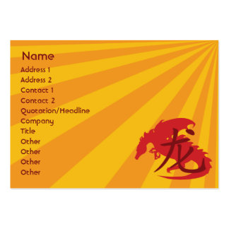 Dragon - Chubby Pack Of Chubby Business Cards