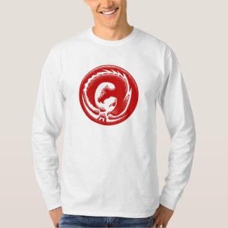 Dragon Circle Red Basic Longsleeve T-Shirt