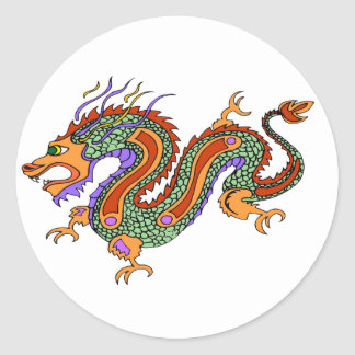 dragon classic round sticker
