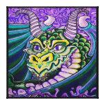 dragon close up (square) canvas