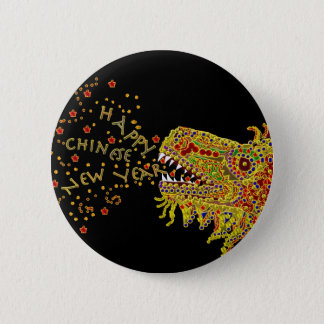 Dragon CNY Chinese New Year 6 Cm Round Badge