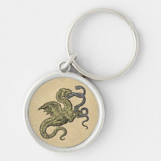 Dragon Conquest of a Snake Keychains
