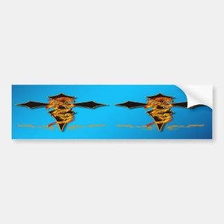Dragon - Cross Bumper Sticker