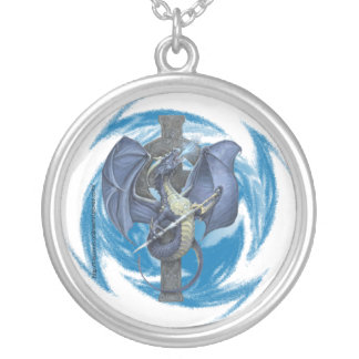 Dragon Cross - Sterling Silver Necklace