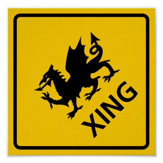 Dragon Crossing Highway Sign