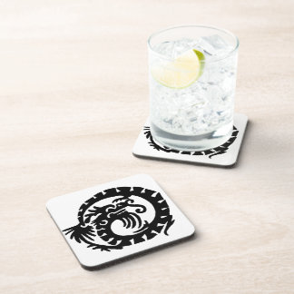 Dragon Curled into a Circle Drink Coasters