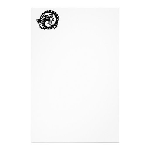 Dragon Curled into a  Circle Personalized Stationery