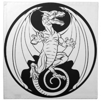 Dragon Design Napkin