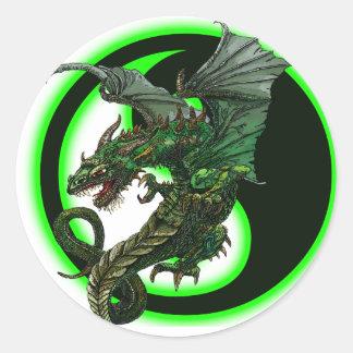 Dragon design round sticker