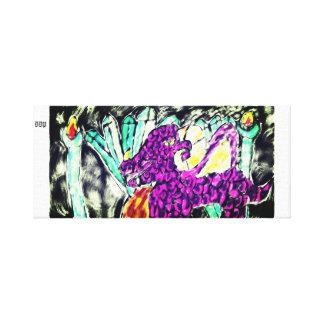 dragon diamond art canvas print