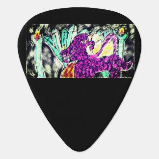 dragon diamond art guitar pick