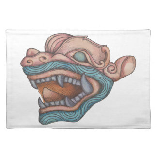 Dragon Dog (Pastel Pink and Blue) Placemat