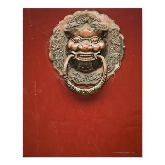 Dragon door knocker poster