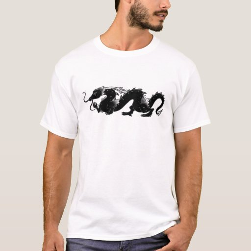 Dragon Dragon Black and White T-Shirt