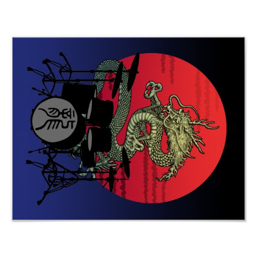 Dragon Drum1 Posters