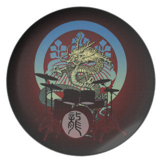 Dragon Drum 02 Dinner Plates