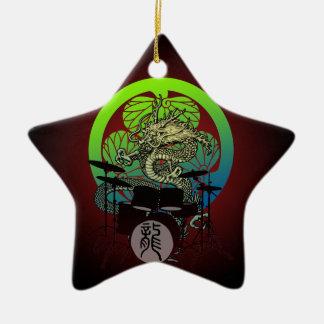 Dragon Drum 03 Ceramic Star Decoration