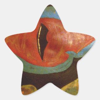 dragon eye star sticker