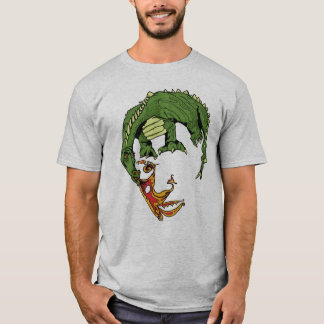 dragon face Optical Illusion Tee SHirt
