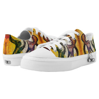 Dragon face printed shoes