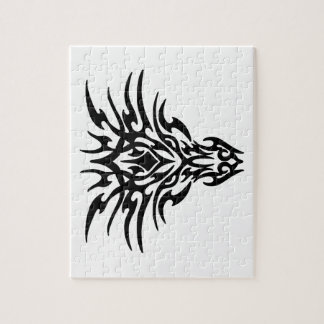 Dragon Face Tattoo Jigsaw Puzzle