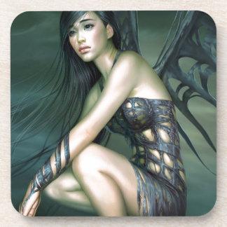 dragon fairy drink coaster