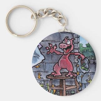 Dragon Familiar Basic Round Button Key Ring