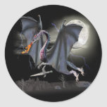 Dragon Fantasy art Round Sticker