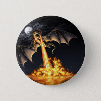 Dragon fire 6 cm round badge