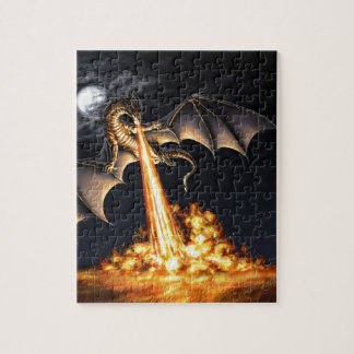 Dragon fire jigsaw puzzle