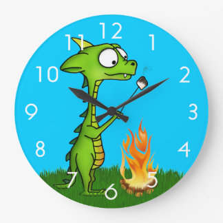 Dragon Fire Large Clock