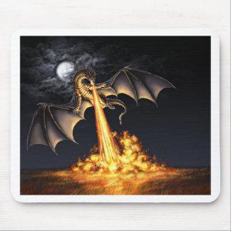 Dragon fire mouse mat
