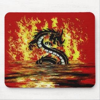 Dragon & Fire Mythical Fantasy Artwork Mousepad
