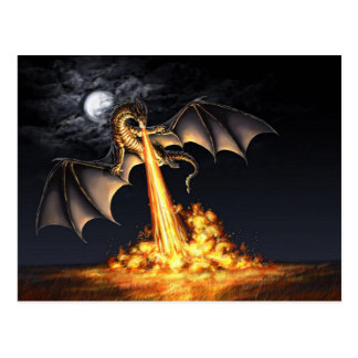 Dragon fire postcard