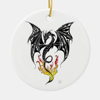 Dragon Flame Christmas Ornament