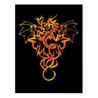Dragon Flame Fantasy Postcard