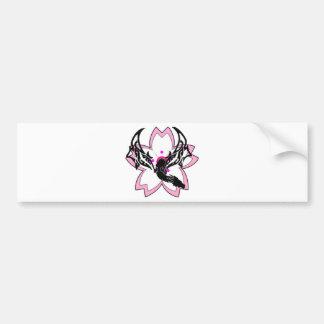 Dragon Flower Cherry Blossom Bumper Sticker