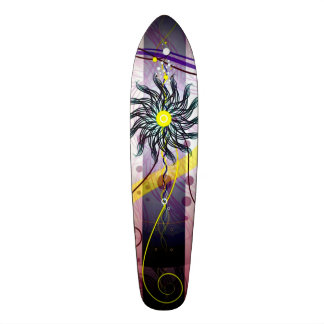 Dragon Flower Cruiser Custom Pro Long Board 19.7 Cm Skateboard Deck