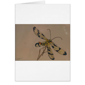 dragon fly 1990 greeting card