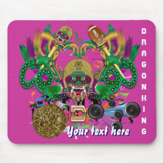 Dragon Football Mardi Gras Please View Hints Mouse Pad