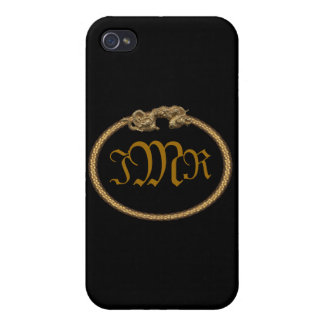Dragon Framed iPhone 4 Case with Custom Initials