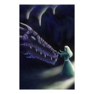 dragon friend fantasy artwork personalized stationery