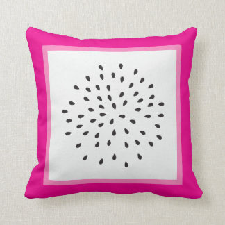 Dragon Fruit Summer Fun Throw Pillow