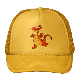 Dragon Funny Happy Fantasy Fiction Drawing Cartoon Mesh Hats