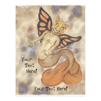 Dragon Gargoyle Merperson Postcard