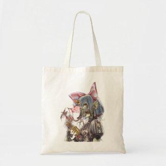 Dragon girl budget tote bag
